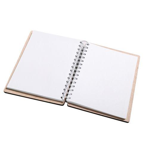 Notes z drewnianą okładką - Syrenka