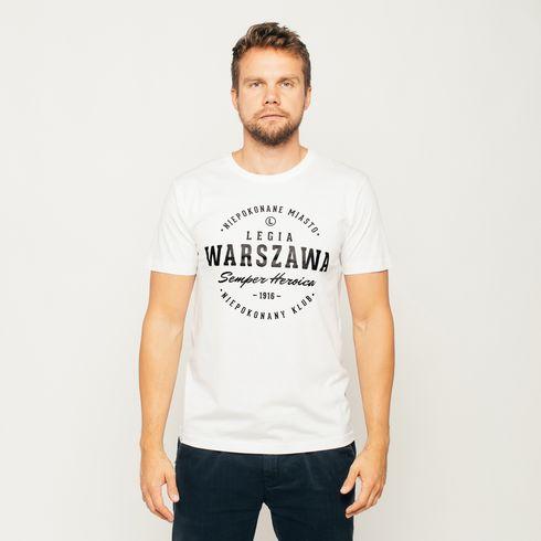 Biała koszulka męska Legia Warszawa
