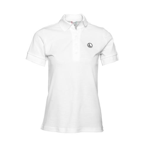 Koszulka damska polo eLka - biała