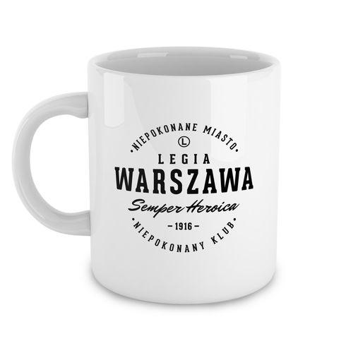 Biały kubek Legia Warszawa