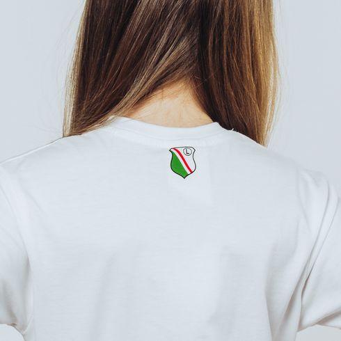 Biała koszulka dziecięca - Łapka