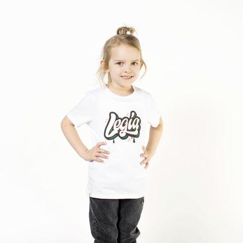Biała koszulka dziecięca - Legia