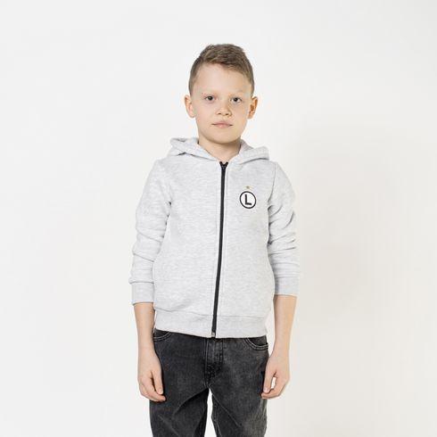 Szara bluza dziecięca Kazek z uszkami