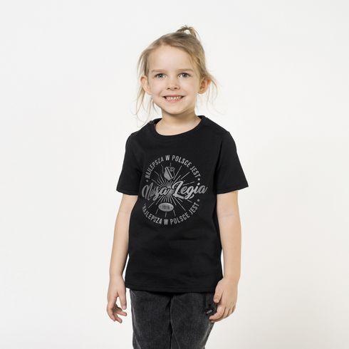 Czarna koszulka dziecięca - Nasza Legia