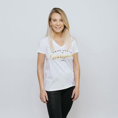 Biała koszulka damska Legia