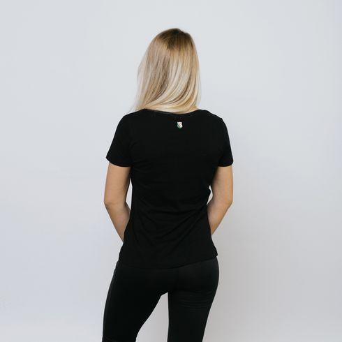 Czarna koszulka damska