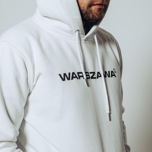Biała bluza z kapturem Warszawa