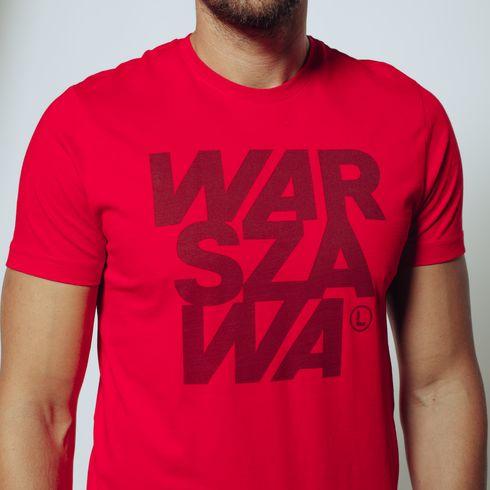 Czerwona koszulka Warszawa