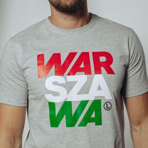 Szara koszulka Warszawa