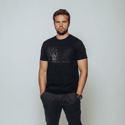Czarna koszulka Semper invicta