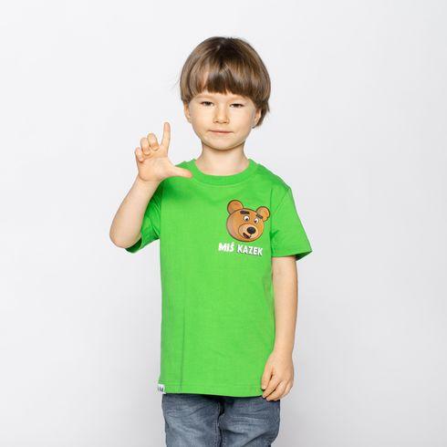 Koszulka Miś Kazek - zielona
