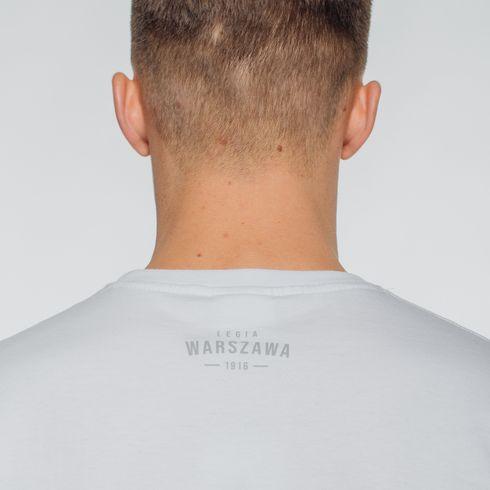 Biała koszulka herb Legia Warszawa