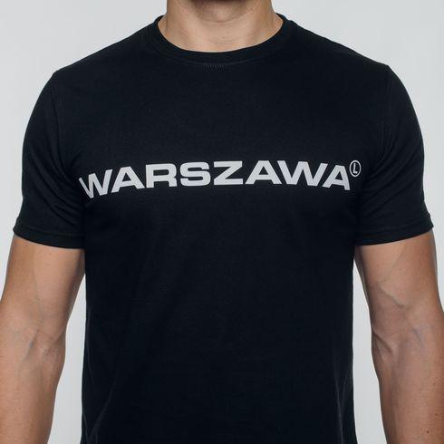 Czarna koszulka Warszawa