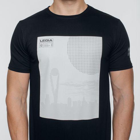 Czarna koszulka Legia panorama