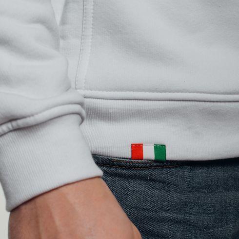 Biała bluza z kapturem Legia moro