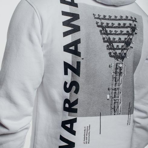 Biała bluza z kapturem Warszawa jupiter