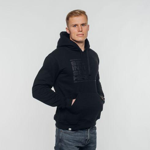 Czarna bluza z kapturem Semper invicta