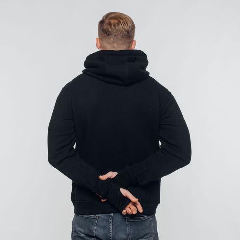 Czarna bluza z kapturem Legia moro