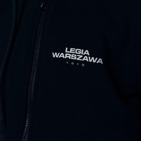 Czarna bluza rozsuwana z kapturem Semper