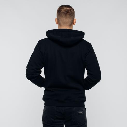 Czarna bluza z kapturem eLka