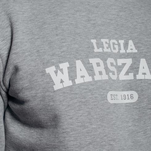 Szara bluza z kapturem Legia Warszawa 1916