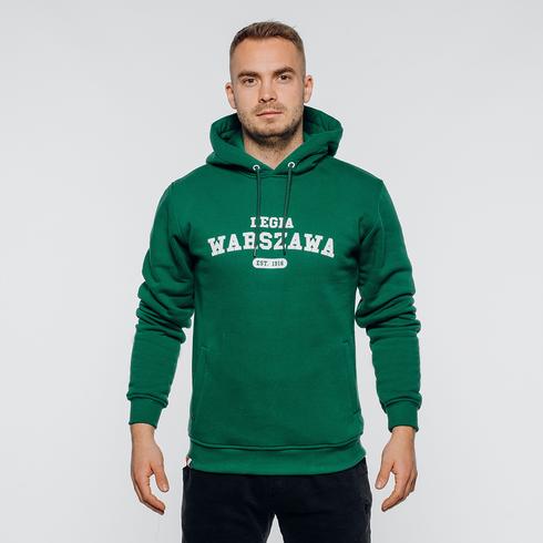 Zielona bluza z kapturem Legia Warszawa 1916