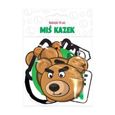 Naklejki Miś Kazek Junior 10 szt.