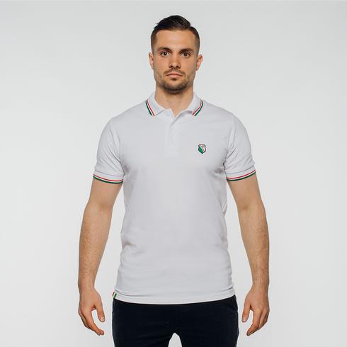 Biała koszulka polo herb
