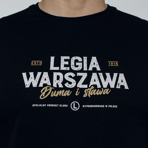 Czarna koszulka Legia Warszawa Duma i sława