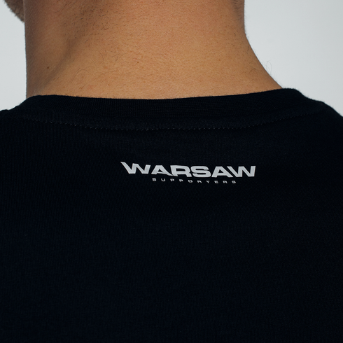 Czarna koszulka Warsaw Supporters