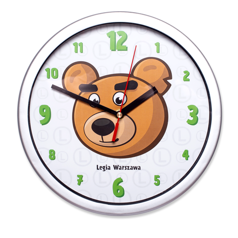 Zegar ścienny Miś Kazek