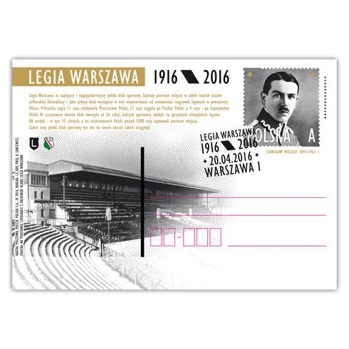 Karta pocztowa Legia Warszawa 1916/2016