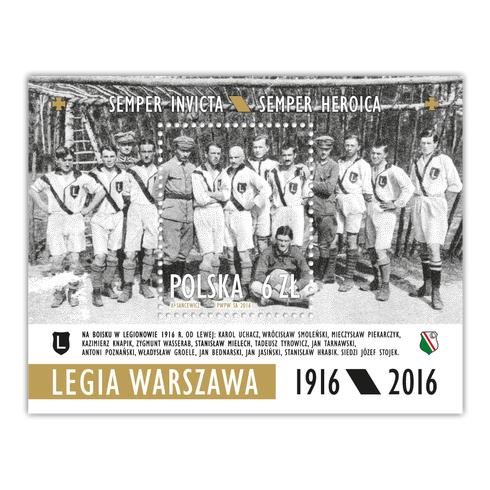 Znaczek pocztowy Legia Warszawa 1916/2016
