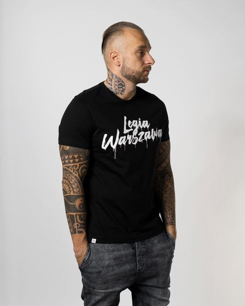 Czarna koszulka Legia Warszawa